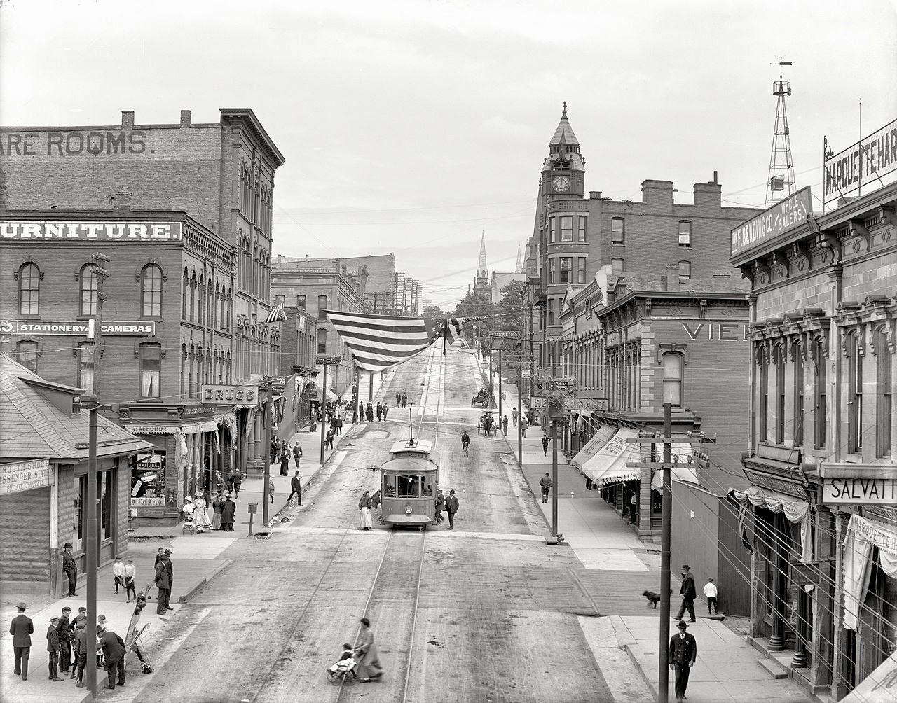 Front Street, Marquette, Michigan, ca. 1909